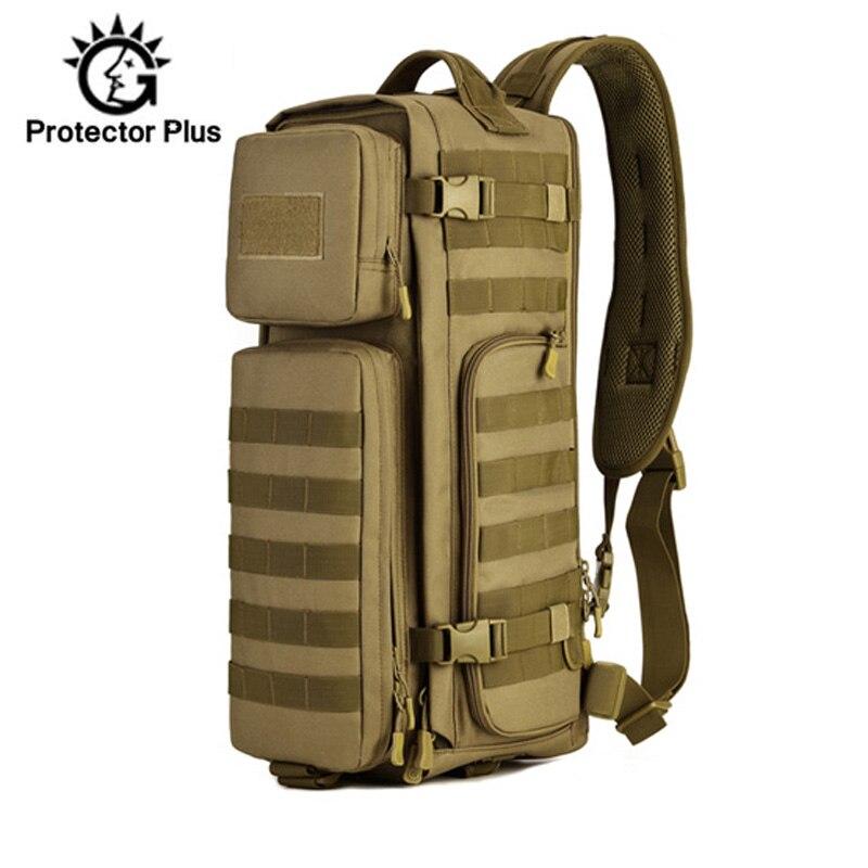 30L tactique sac à dos poitrine fronde sac à dos multifonction Molle militaire sac homme épaule armée sacs alpinisme en plein air XA44D