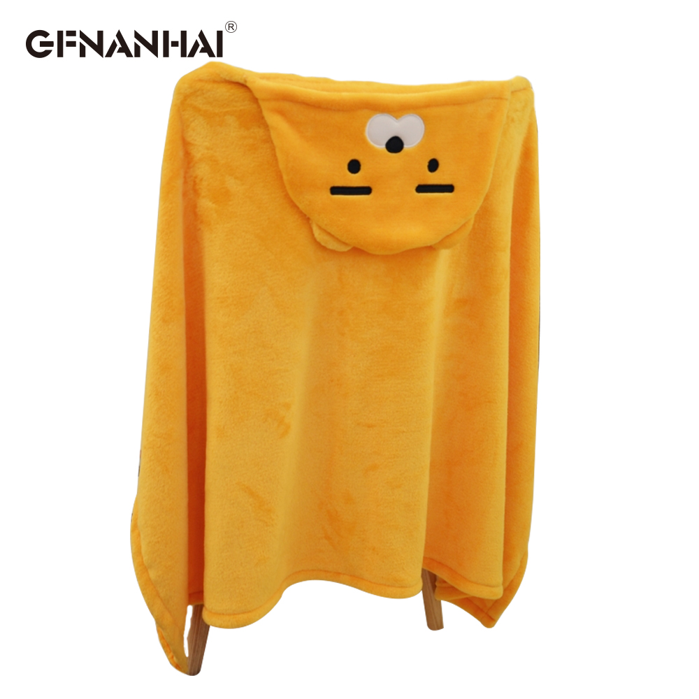 1pc Cute Kakao Friend cloak Plush toy Cape cloak with hat Dolls kawaii RYAN Apeach Plush Blanket Toys for Children Girl Xma Gift striped pattern plush blanket for children