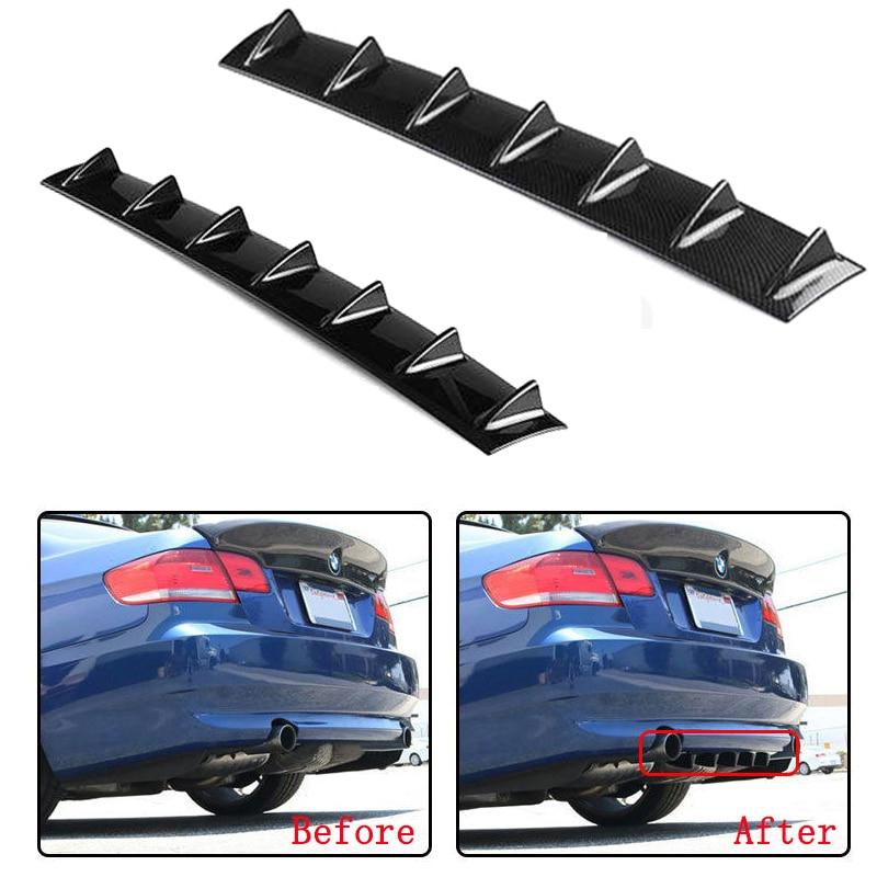 Car Shark Fin Bumper Lip Deflector Lips For Chassis Diffuser Spoiler Car Tail Spoiler Skirt Car Tuning Kit Strip Accessories