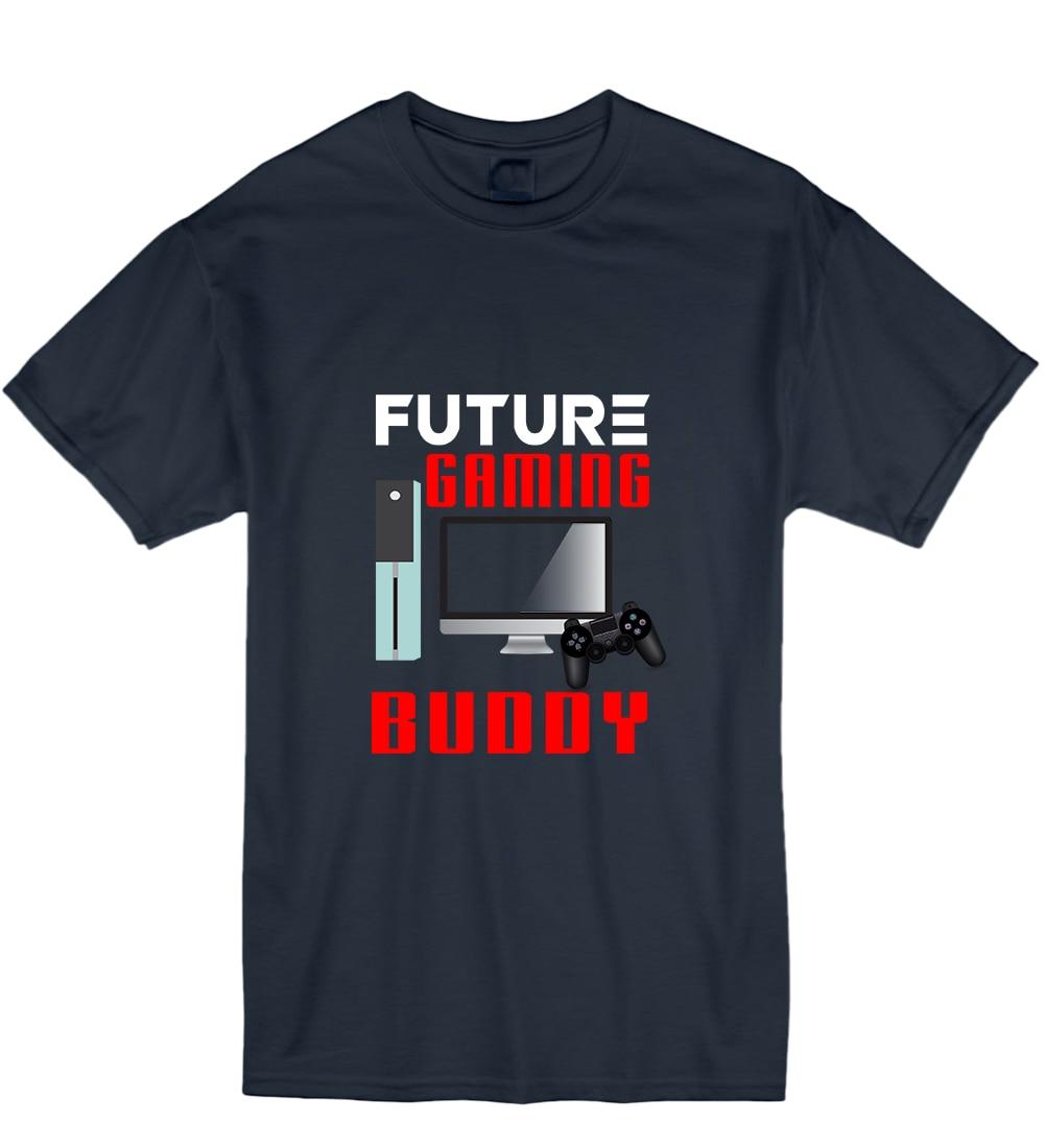 2018 Summer Fashion Casual Men O-Neck T Shirt Future Gaming Buddy Funny Kid Humour Nerd T Shirt Tshirt Mens Womens Gift