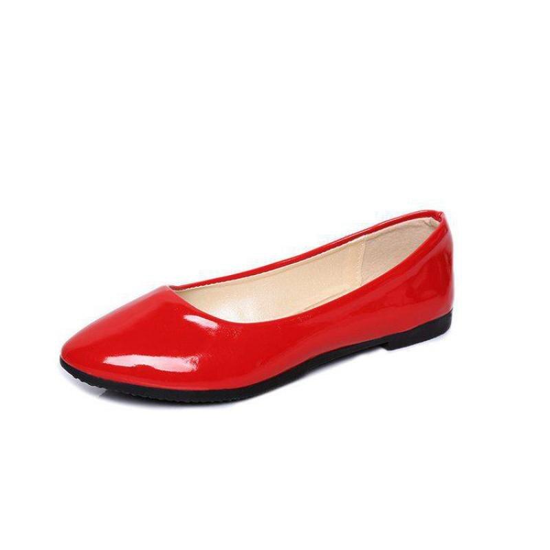 Automne rouge Printemps Chaussures Sauvage Profonde blanc Nouvelle Bouche Simples Lavande Peu Avec Terrain Confortable Milieu 2017 Pointu Chaussures Et Femelle De Haute qEwdER