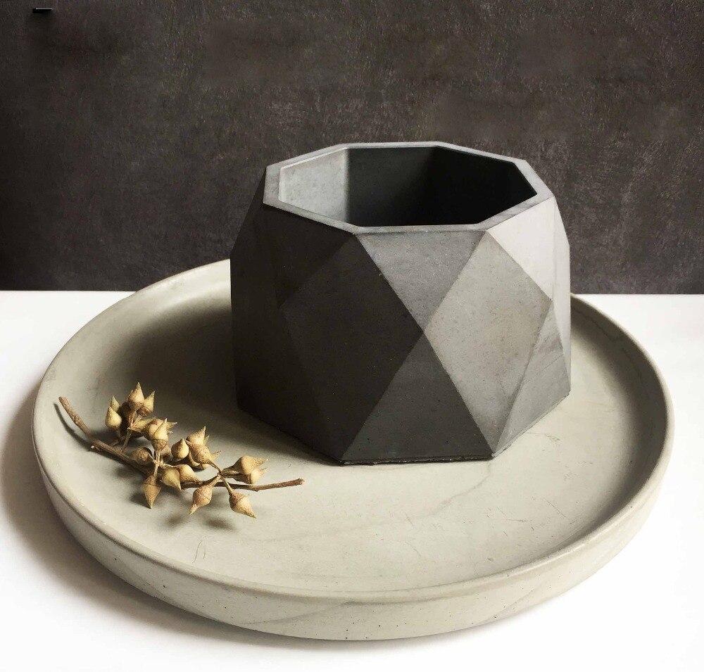 실리카 젤 실리콘 금형 북유럽 바람 기하학적 시멘트 화분 3D 꽃병 크리스탈 컷 화분 금형