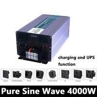 Full Power 4000W Pure Sine Wave Inverter,DC 12V/24V/48V To AC110V/220V,off Grid Solar inverter With Battery Charger And UPS