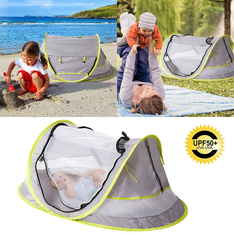 Infant Kid Baby Beach Tent Canopy Crib Sun Shade Shelter Anti UV  Protection Outdoor Portable Travel Mosquito Net