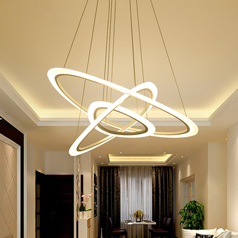New modern chandeliers,Living room Restaurant Hotel rings acrylic LED lighting Ceiling lamps Bedroom   Fixtures цена и фото