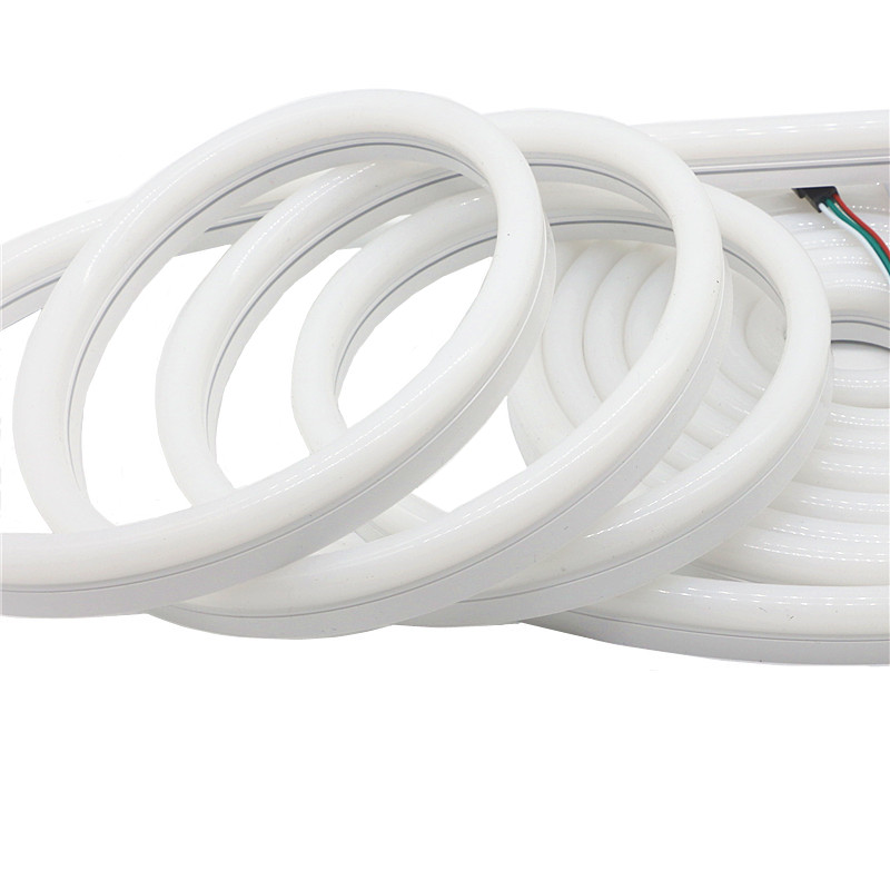 12 V WS2811 RGB Pixel rampe d'éclairage à LED néon corde Flexible étanche IP67 PVC Tube néon ruban lumières WS2812 bande intelligente éclairage