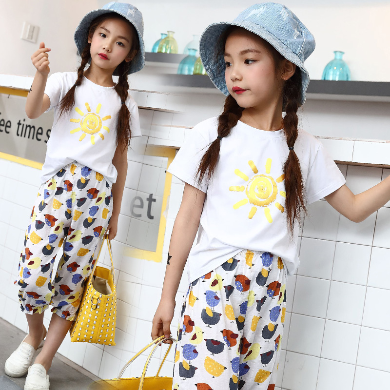 2018 Summer Toddler Girls Clothing Sets Casual Kids Clothes Brand Fashion Girls Clothes 10 12 Years Childrens Sports Suits Sale