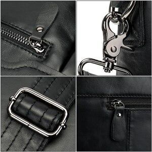 Image 5 - WESTAL Männer Aktentaschen männer Tasche Aus Echtem Leder büro Taschen für Männer Laptop Tasche Leder Aktentasche Mann Anwalt/Computer taschen 9005