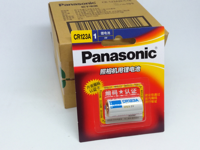 5pack/lot New Original Panasonic CR123A CR17345 3V Lithium Battery Camera Non-rechargeable Batteries Free Shipping