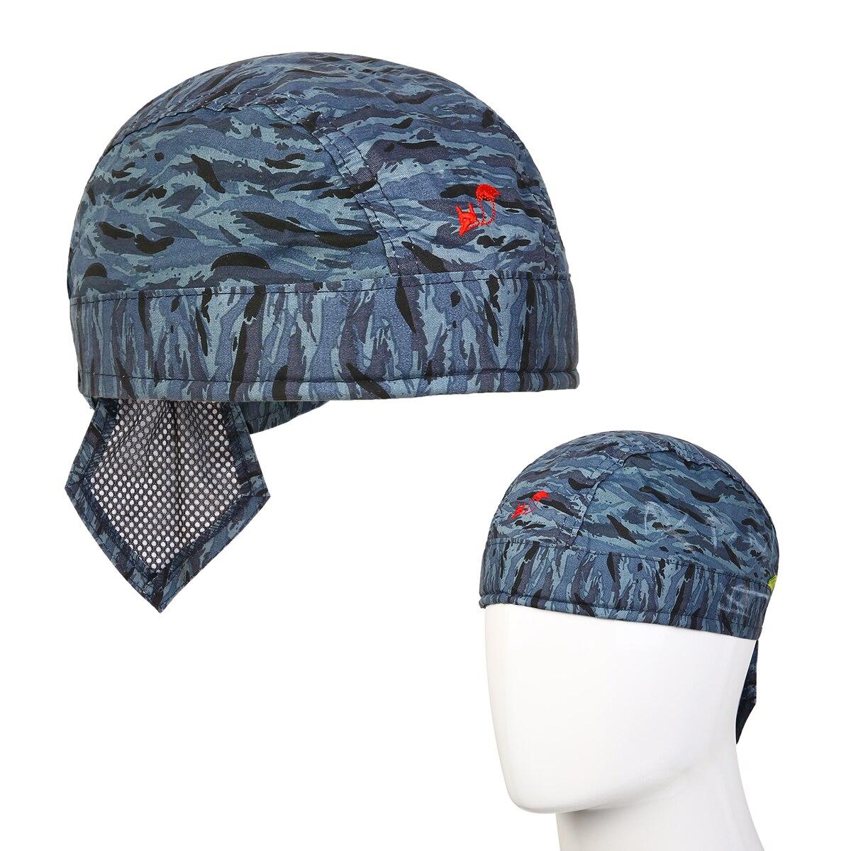 Camouflage Welder Protective Hat Welding Cap Scarf Welder Flame Retardant High Temperature Resistance Cotton Helmet