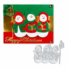 metal cutting dies cut die mold Snowman Merry Christmas Die Scrapbook paper craft knife mould blade punch stencils