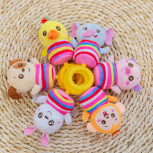 Rattle Baby Toys Baby Infant Newborns Plush Hand Grasp Cute Animal Stuffed Handbell Ring Early Education Toy Boy Girl Gift(China)