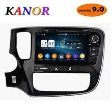 KANOR 4 + 32G Octa Core Android 9,0 2din автомобильный DVD Радио для Mitsubishi Outlander 2013 2014 2015 головного устройства gps навигации стерео