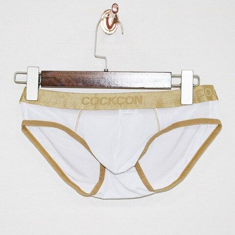 COCKCON Sexy Gay Underwear Men Briefs Shorts homme Breathable Low-waist Panties Man Transparent Mesh Gauze Lingerie cueca M-XXL Karachi