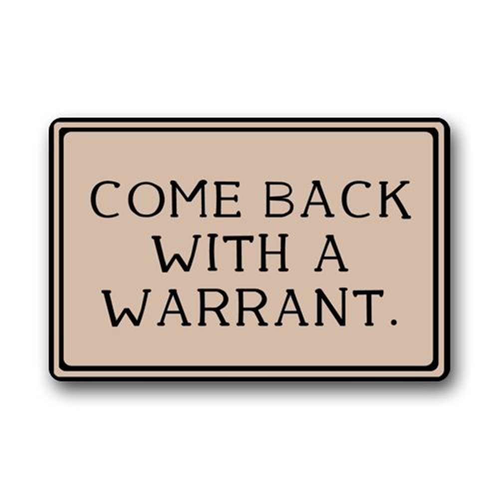 Buy warrant doormat and get free shipping on AliExpress.com