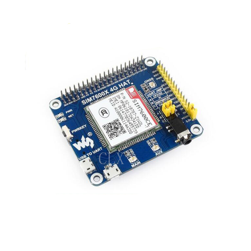 4G/3G/2G/GSM/GPRS/GNSS HAT for Raspberry Pi, Based on SIM7600E-H compatible chipkit pi for raspberry pi based on pic32mx250f128b mcu for arduino red