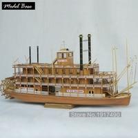 Wooden Ship Model Kits Educational Toy Model Ship DIY Train Hobby Model Boats Wooden 3d Laser Cut Scale 1/100 MISSISSIPPI 1870