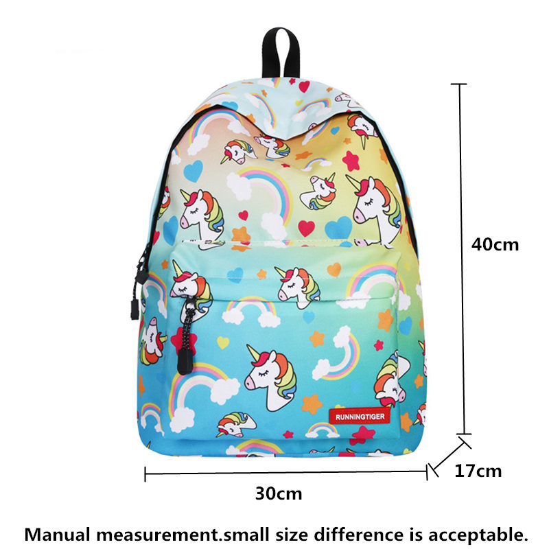 runningtiger pink unicorn backpack kids set unicorn backpacks for girls children laptop school bag kids backpack