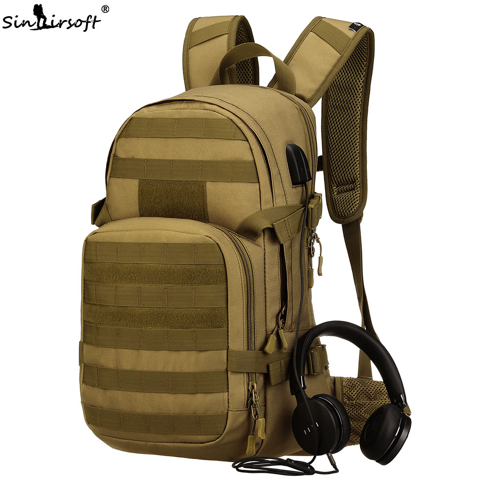 SINAIRSOFT Outdoor Sports Molle Tactical Backpack Military Army Utility Camping Travel Rucksacks Hiking Trekking Bag Waterproof military tactical backpack 4 in 1 waterproof outdoor bag travel camping hiking trekking bag shoulder sling molle pouch day pack