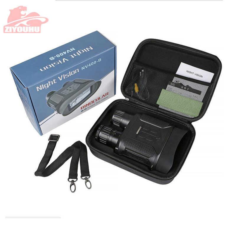 7X31 ZIYOUHU kızılötesi HD dijital gece görüş gözlüğü kamera el dürbün görüntü Video kayıt kızılötesi kamera NV400B geniş ekran