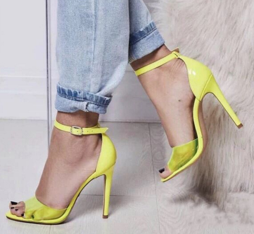 new Rhinestone Buckle solid color womens sandals fish mouth KAI-Womens sandals sandals fashion