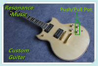 100 Real Pictures Nature Wood Finish YMH SG Custom Electric Guitars Chinese OEM Push Pull Pot