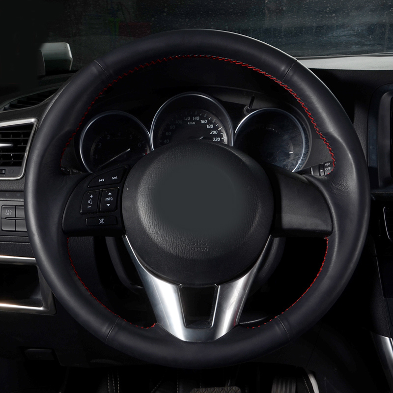 Car Accessories Sewing Leather Hand Steering Wheel Cover For Mazda 6 Atenza Gt 2014 2015 In