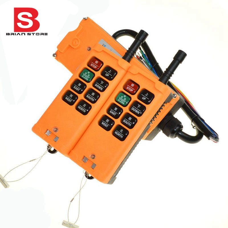 12-24vdc 2 Transmitters 8 Channels One Speed Truck Hoist Crane Winch Radio Remote Control System Controller