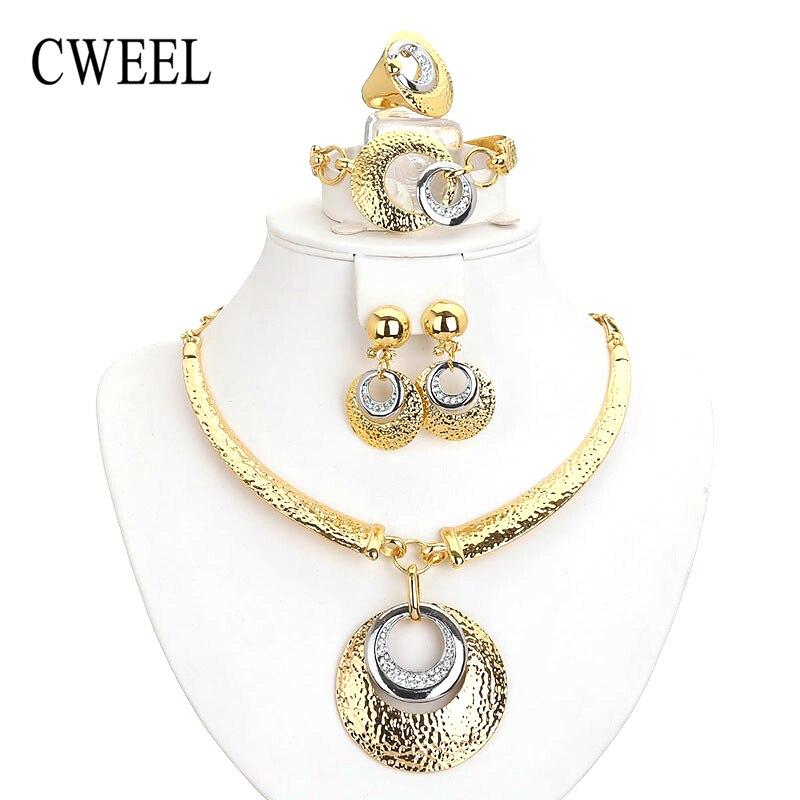 Cweel perlas africanas sistemas de la joyería para las mujeres dubai partido nup