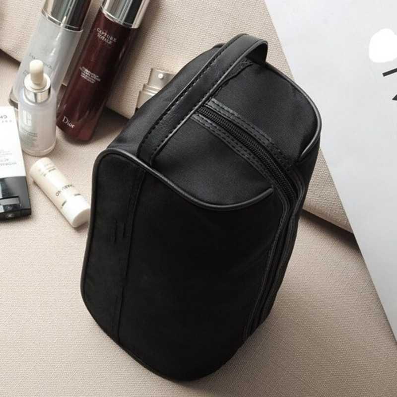 718b81f74d6 ... Portable Men Black Travel Waterproof Makeup Toiletry Bag Wash Shower  Cosmetic Organizer Nylon Casual S