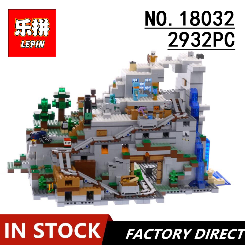 Lepin 18032 My World Toddlers Iron Golem kids Toys Mountain Cave Building Blocks brick LegoINGly Minecrafte 21137 Christmas gift