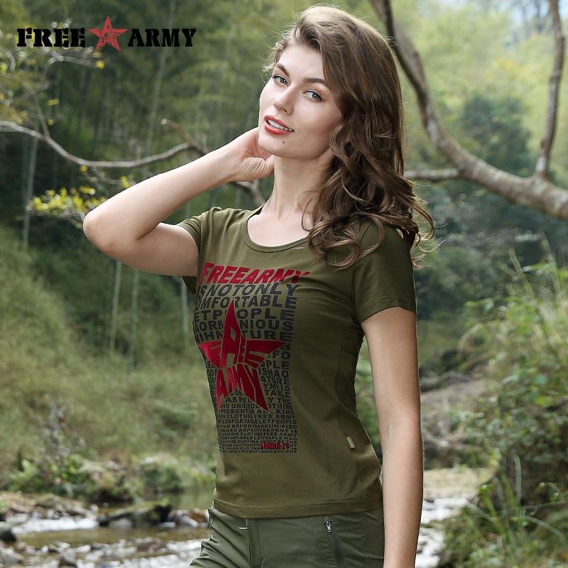 FreeArmy Summer Tees Frühling Kurzarm T-Shirt Casual Women T-Shirt - Damenbekleidung - Foto 4