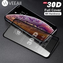VEEAII Tempered Glass Screen Protector 30D Full Cover for iphone 6s 6 7 8 Plus on for iPhone X XS MAX XR Film Curved Edge Glass стоимость