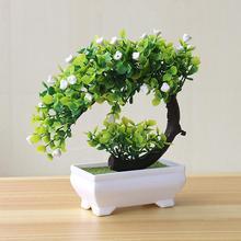 Новое искусственное растение бонсай искусственный цветок в горшках орнамент домашний отель сад Декор подарок искусственные растения