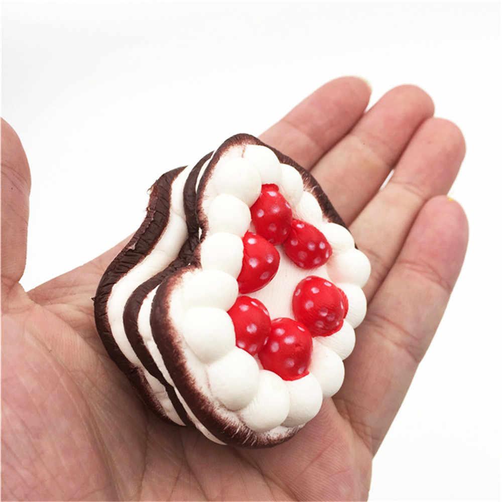 Сжимающий мягкий мини-клубничный торт для снятия стресса мягкий медленно растущий крем ароматизированный декомпрессионная игрушка для лечения Забавный подарок Z0325