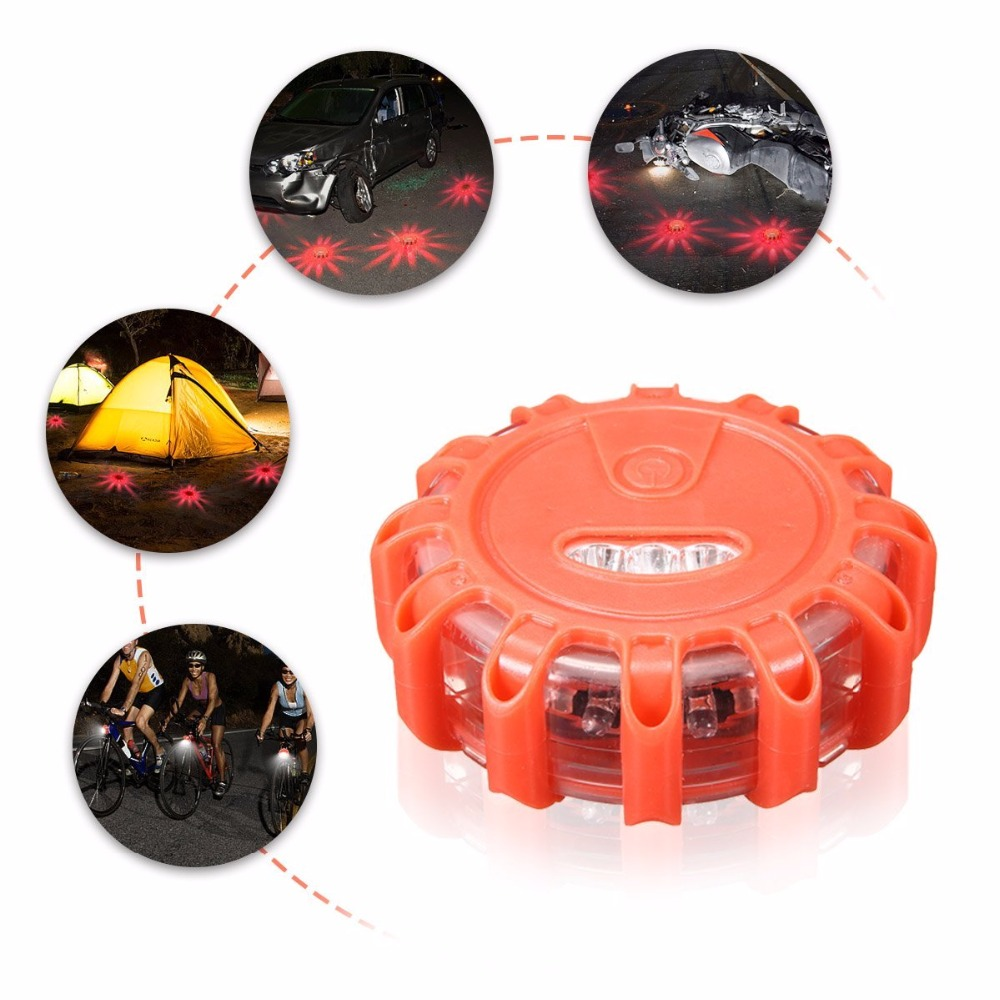 AUSIDA LED Road Flares Flashing Traffic Warning Light Roadside Flare Emergency Disc Beacon,for Car LED Night light amber