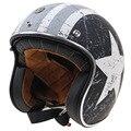 ТОРК марка Ретро Стиль Мотоцикл шлем DOT ЕЭК утвержден открытым лицом мотоциклетный шлем с черные очки и пик