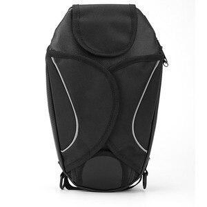 Image 4 - New Waterproof Motor Tank Bag Black Oil Fuel Tank Bag Magnetic Motorbike Saddle Bag Single Shoulder Bag Motorcycle Backpack