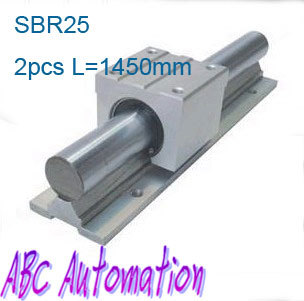 Free shipping to Russia for 2pcs SBR25 L-1450mm  linear round rail without SBR25UU slide block molecular therapy and nanocarrier based drug delivery to colon cancer