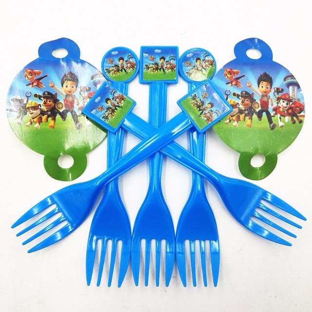 10pcs Patrol Puppy Dog Party Supplies Disposable Plastic Forks Baby Birthday Holiday Party Dinnerware Decoration Kids  sc 1 st  AliExpress.com & 10pcs Patrol Puppy Dog Party Supplies Disposable Plastic Forks Baby ...