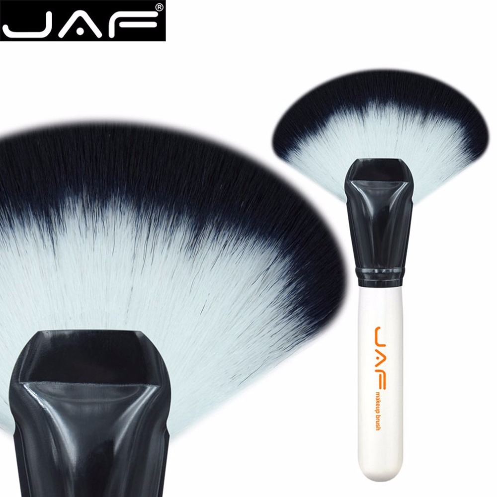 JAF Pro Synthetic Hair Large Fan Shape Makeup Brush Powder Highlighter Contour Soft Foundation Make up Brush Cosmetic Tool
