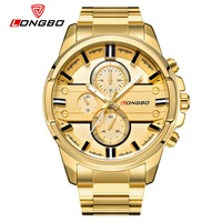 LONGBO Military Men Stainless Steel Band Sports Quartz Watches Dial Clock For Men Dynamic Dial Watch