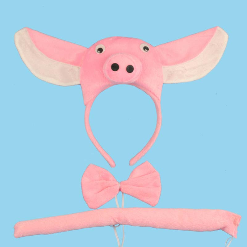 2018 Animal 3D Pink Pig Ear Headband Bow Tie Tail Unisex Children Adults Cosplay Costume Set Carnival Party Costume Decor-in Boys Costumes from Novelty ...  sc 1 st  AliExpress.com & 2018 Animal 3D Pink Pig Ear Headband Bow Tie Tail Unisex Children ...