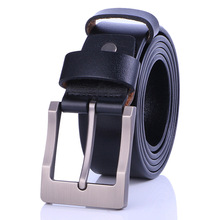 Men's High Quality luxury Leather vintage Pin Buckle Belt