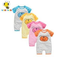 Baumwollbär Baby Strampler Rundhals Babykleidung Jungen Strampler 1 bis 24 Monate Kurzarm Overall Säuglings Produkt Set Sommer