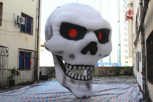 Livraison gratuite 4.5 m de haut géant halloween gonflable décoration halloween crâne
