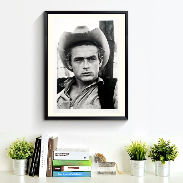 Retro James Dean Canvas Art Print Painting Poster Wall Pictures For ...