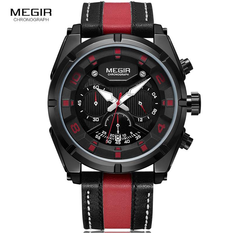 Reloj de pulsera de hombre Megir Relojes Hombre Reloj de pulsera de - Relojes para hombres - foto 2