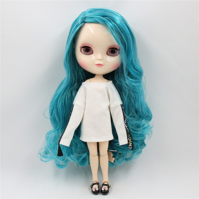 ICY Neo Blythe Doll Blue Mint Hair Azone Jointed Body