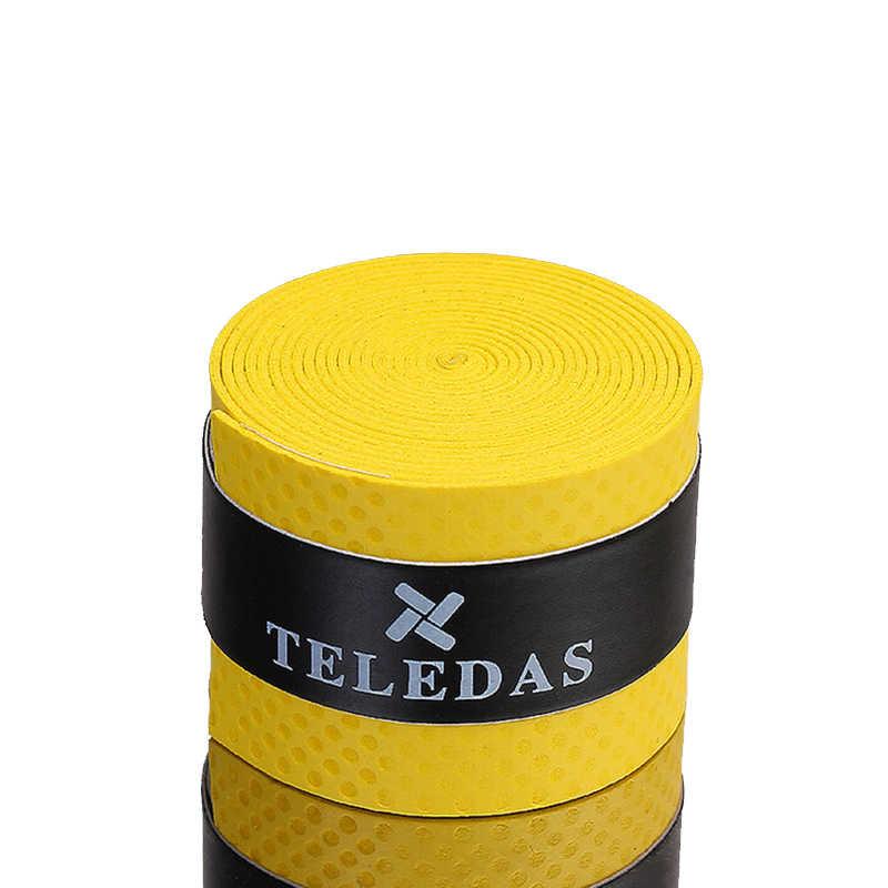 Tennis Racket Grips Anti Slip Sweat Absorbed Wraps Tape Badminton Squash Racket Grab Handle Cover Bandage Strap Fishing Rod 5Pcs